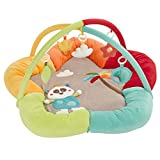 Fehn 067323 3-D-Activity-Nest Jungle Heroes, Besonders weicher Spielbogen mit 5 abnehmbaren Spielzeugen für Babys Spiel & Spaß von Geburt an, Maße: Ø85 cm