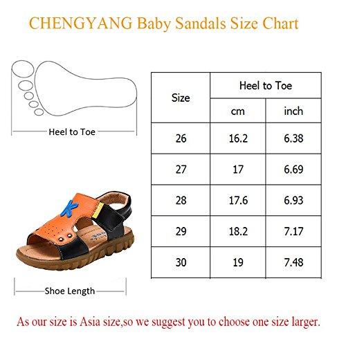 CHENGYANG Sandales Ouvertes - Sandales de plage Été Chaussures Bébé Marche Bébé Garçon Blanc Bleu