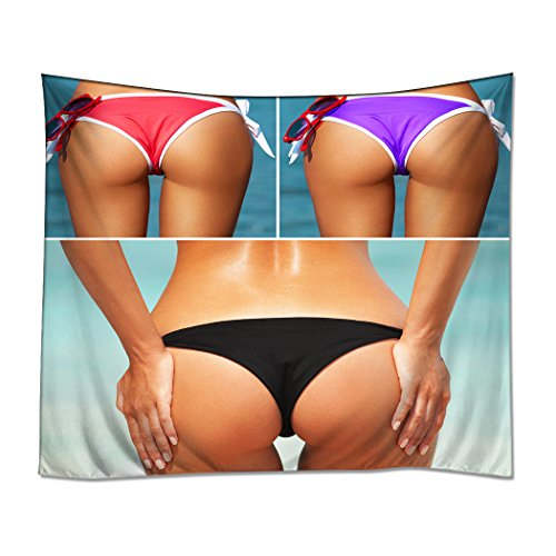 Arsch Jersey (YISUMEI Kissenbezug 45x45 cm Home Decor Sofa Werfen Kissenbezüge Pillowcases Arsch Popo Sexy Augen Strand Bikini)