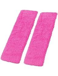 Sonline Deux pieces de Turban sportif de Yoga Rose pour les femmes