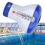 iYoung Skimmer Pool Chlor Dosierschwimmer, Schwimmender Pool Chemischer Chlorspender mit Thermometer...