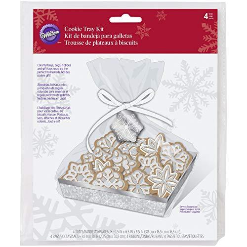 Wilton Snowflake Cookie Tablett-Set, Mehrfarbig, 16x 23,5x 0,41cm (Cookie Display-boxen)