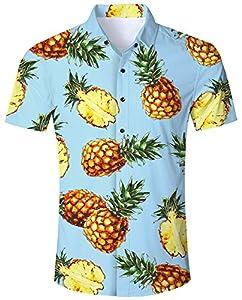Goodstoworld Camisa Hawaiana para Hombre
