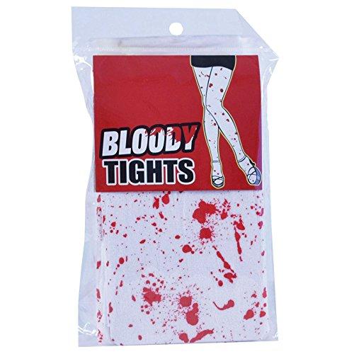 Calze bianche macchiate di sangue finto, per halloween, per adulti, da donna, accessorio per costume da infermiera sexy/zombie, taglia unica