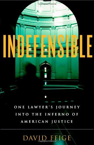Indefensible: One Lawyer's Journey into the Inferno of American Justice by David Feige (2006-06-03)
