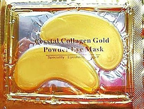 5 x Premium Crystal Gold Collagen Eye Maske Kristall Bio-Anti-Falten Feuchtigkeit Haut Patch Pad mit Lavendel Öl, Collagen, haluronic Säure Collagen Masken von MABS (Aromatherapie-patches)