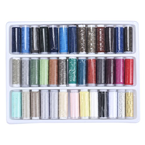 Generic New A Set Colorful 39 Pcs 200 Yards Sewing Thread Spolyester Thread Strong And Durable Sewing Threads For Hand Machines In Stock