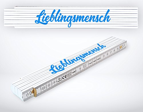 Meterstab Zollstock Messtechnik 2m bedruckt mit Spruch (Lieblingsmensch).