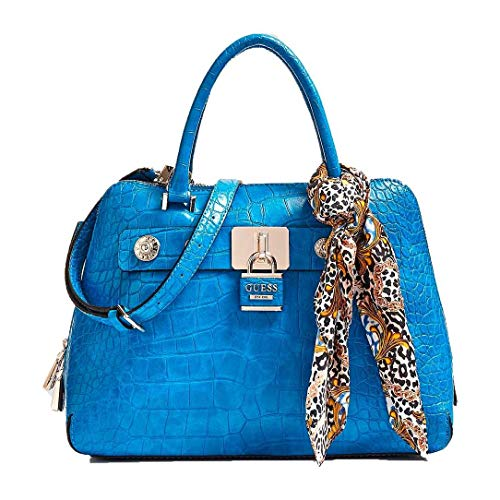 Guess Anne Marie Dome Satchel Blue