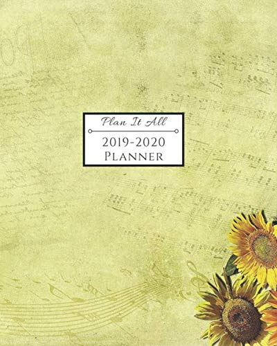 2019-2020 Planner: 16-Month Weekly and Monthly Planner/Calendar Sept 2019-Dec 2020 Music Notes and Bright Sunflower