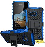 Microsoft Lumia 550 Handy Tasche, FoneExpert® Hülle Abdeckung Cover schutzhülle Tough Strong Rugged Shock Proof Heavy Duty Case für Microsoft Lumia 550 + Displayschutzfolie (Blau)