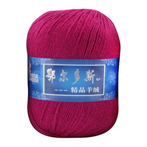 Gaddrt Filé en cachemire mou, tricoté à la main en laine mongole fil de tissage bricolage, 1pc (B)