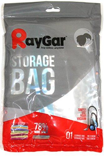 RayGar - Buste sottovuoto salvaspazio 90 x 50 cm per abiti, piumini, lenzuola, cuscini, tende, confezione da 6 pezzi