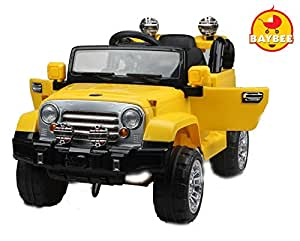 Baybee Voyager Battery Operated Jeep (YELLOW) with Remote Control