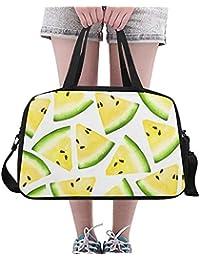 37ffb5e965 Aquarelle jaune pastèque grand Yoga Gym fourre-tout sacs à main de remise  en forme