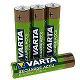 Varta Recharge Accu Endless Energy AAA Micro Ni-Mh Akku 4er Pack 750 mAh - bis zu 2100 Ladezyklen, geringe Selbstentladung, vorgeladen und Ready2Use - wiederaufladbar ohne Memory Effekt (Design kann abweichen)