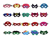 BUWANT Superheroes Party Masks for Children- 20 pack Superhero Cosplay Masks- latex-free,Perfect for Children Aged 3+