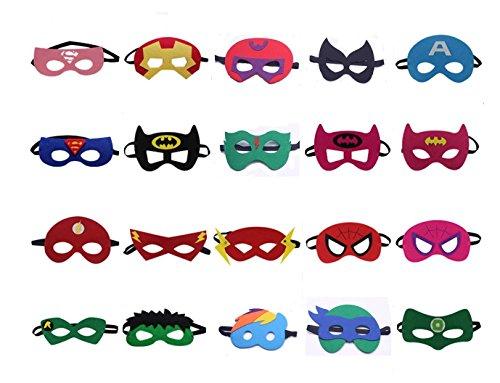 ken Super Masken Weihnachten Maske Superheld Cosplay Party Augenmasken 20 Stück Filz Masken Masken - latexfrei, perfekt für Kinder ab 3 Jahren (Superman Returns Kostüm)