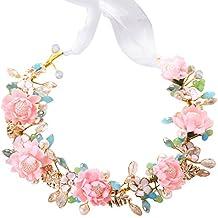 TININNA fiori sposa corona copricapo floreale sposa capelli fascia per  capelli di nozze gioielli 277812db238f