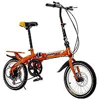 MAN SI JIE Bicicleta Plegable de 16 Pulgadas/Macho y Hembra niños absorción de Golpes