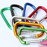 #5: Como Outdoor Sports Aluminium Alloy Safety Buckle Hook for Camping/Hiking [SMSF035]