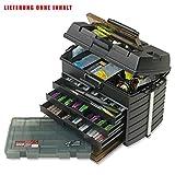 Meiho Versus VS 8050 Angelbox - Angelkasten 542 x 300 x 397 mm, Angelkoffer grün, Angelbox Auch als...