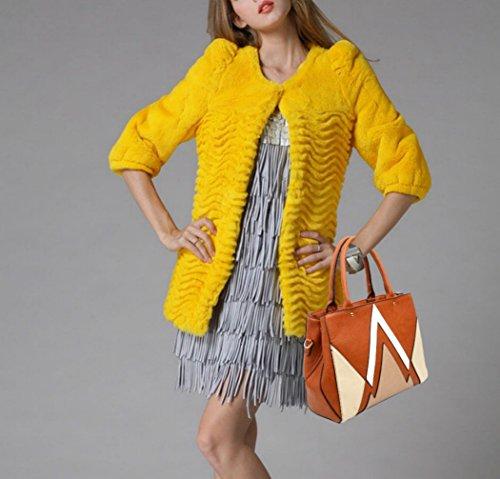 b489d5cf89e8b ... LeahWard Große Taschen für Frauen Qualität Faux Leder Schultertaschen  Taschen für die Schule CW0155 (Braun