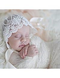 LnLyin Infant Neugeborenen Baby M/ädchen Kinder Spitze Hut M/ütze Beanie Motorhaube H/üte Haarschmuck