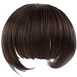 TOOGOO(R) NEW Girls Lovely Fiber Synthetic Clip on Clip in Front Hair Bangs Fringe Extension 35g