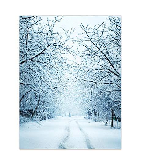 Aisnyho Hintergrund für den Winter, Schnee, Frozen Baum, für Fotografie, Studio, Dekoration, Party, 2,1 x 1,5 m (Dekorationen Für Partys Frozen)
