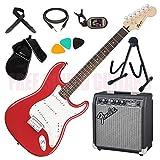 FENDER Squier Bullet Stratocaster HT + AMPLIFICATORE + TRACOLLA + CAVO + BORSA + ACCORDATORE + PLETTRI + SUPPORTO CHITARRA