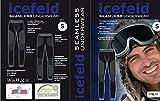 icefeld®: Sport-/ Ski-Thermo-Unterwäsche-Set für Herren seamless (nahtfrei) in schwarz/blau S Bild 3