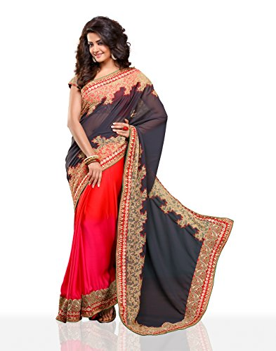 Chirag Sarees Synthetic Saree (4406_Red)