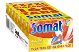 Somat 7 All in 1 4XL Spülmaschinentabs, 1er Pack (1 x 168 Tabs)
