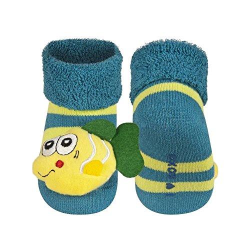 Socken für Baby Boy SOXO Rassel Gr. XXS , green with fish (Fish Sock Green)