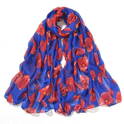 YAN Schal für Frauen Pop Mode Frauen Blumen Muster Infinity Schal Wrap Schal Frühling Winter Schals Kopf Schal Wraps (Color : 3) -