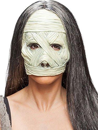 Orlob Kostüm Zubehör Halbmaske Maske Mumie Karneval Fasching Halloween (Mumie Kostüm Maske)
