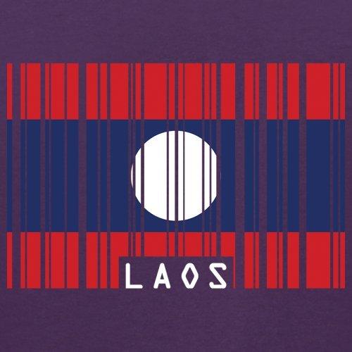 Laos Barcode Flagge - Herren T-Shirt - 13 Farben Lila