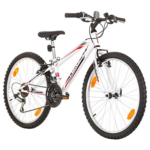24 Zoll, CoollooK, TEMPO, Jugend Fahrrad,Mountainbike MTB,hardtail, Rahmen 28 cm, SHIMANO 18-GANG, Weiss