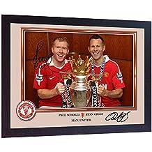 Manchester United FC Signiertes Foto von Roy Keane und Paul Scholes