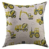Best Better Homes and Gardens Bath Pillows - Mugod Pillow Case Tractor Yellow Heavy Construction Machines Review