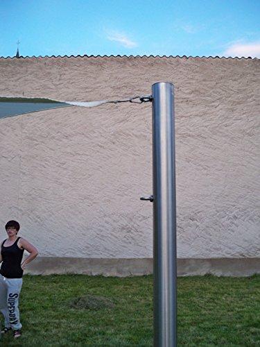 Befestigung Stange (Sonnensegelmast Sonnensegel Sonnensegelpfosten Edelstahl 2,5m ∅60,3mm 6025/2-2)