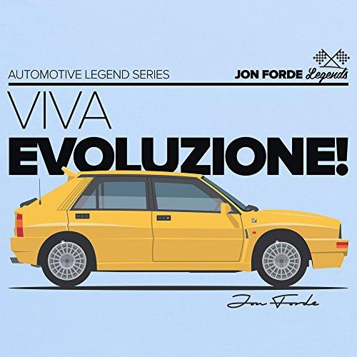 Jon Forde Viva Evoluzione T-Shirt, Herren Himmelblau