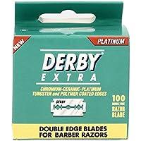 Derby Extra à double tranchant de sécurité Lames de rasoir - Paquet de 100 lames