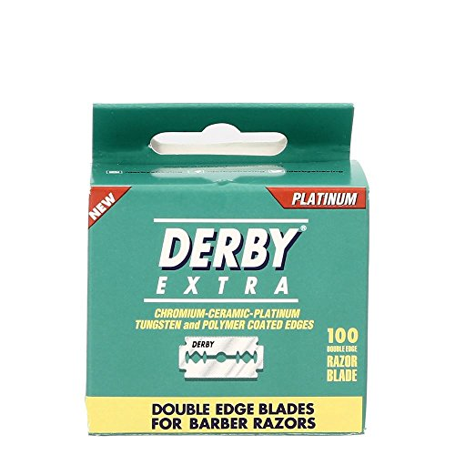 Derby Extra Zweischneidige Sicherheits-Rasierklingen, Pack mit 100Klingen