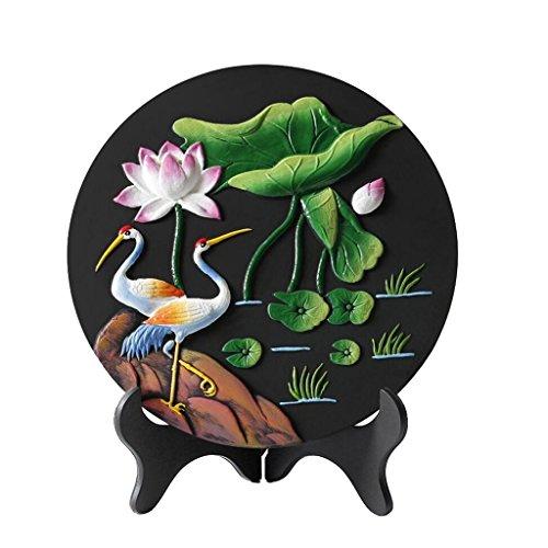 Unbekannt Skulptur Aktivkohle Carving chinesischen Stil Eigenschaften von Handwerk Dekorationen New Home Home Kreative praktische Carbon Carving Ornamente FANJIANI -