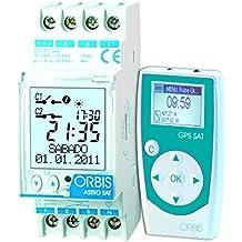 Orbis Astro SAT 230 V interruptor horario digital de distribuidor, OB178200