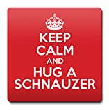 KEEP CALM and Hug a Schnauzer Coaster Coffee Cup Gift Idea present dogs by KUSTOM DESIGN