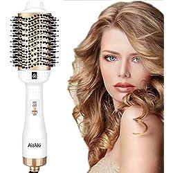 Aiskki Sèche-cheveux,5 en 1 Brosse Soufflante,Multifonctionnelle à Air Chaud Sèche-cheveux Styler et Volumateur Lisseur à Air Chaud Lisseur pour cheveux Blow pour tous les Types de Cheveux