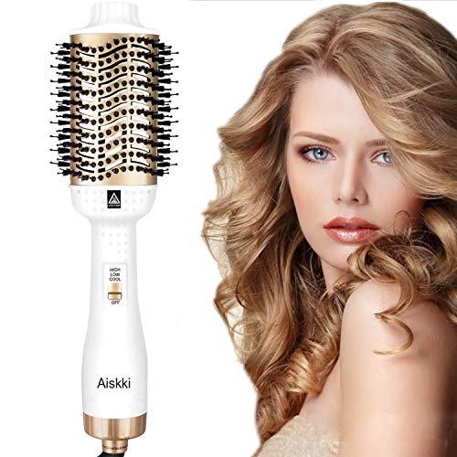 Aiskki Haartrockner,5 In 1 Multifunktionaler Föhnbürste Hair Dryer&Volumizer Styler Volumenbürste mit Negativer Lonic Föhnen Stylingbürsten für alle Styling